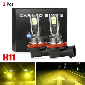 Araba Farlar 1 Pair H11 H8 H9 LED Sis Işık Dönüşüm Kiti Premium 3000 K Sarı 350 W Lamba Ampuller