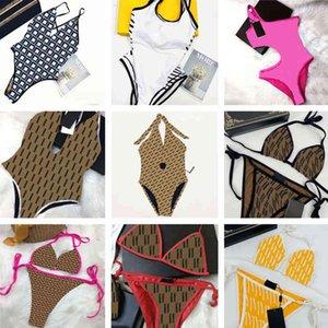 Fashion Womens Swimsuit Sexy Girls Bathing Suit Textile Summer Swimwear Beach Bikinis Set Letter Pattern Women Bodysuit Swim Clothing_ty