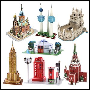 Classic Jigsaw DIY 3D Puzzle World Famous Architectural Model Puzzle Toys for Children