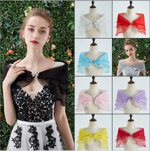 Bridal Shawl Wedding Dresses Wraps Covering Arms Sen Net Red Shawls Thin Section Bateau Neck Banquet Female Accessories