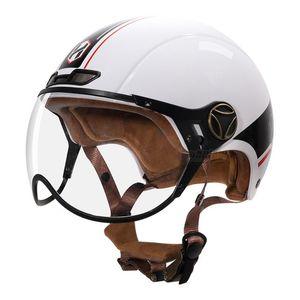 Motorcycle Helmets White Vintage Helmet Open Face Motorbike Retro Moto Riding Racing Casco Capacete Motocross For Unisex