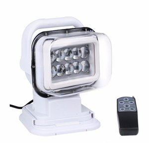 1pcs 12v 50w 360 &120 Wireless LED Auto Search Spot Light Rotating Remote Control Work Light Spot for SUV Boat Home
