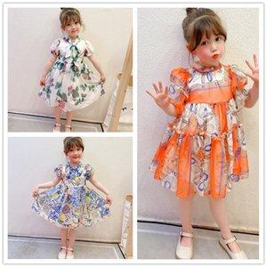 Robes filles robes de luxe floral imprimé princesse princesse mariage robe de fête de mariage enfants design vêtements enfants boutique vêtements vêtements
