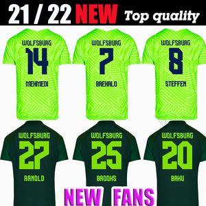 2122 VFL Wolfsburg Soccer Trackys Weghorst 2021 2022 Steffen Brekalo Malli Kalus Guilavogui Футбол футболка Арнольд Ссавер Джерси