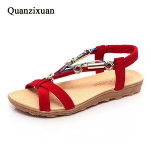 Quanzixuan Frauen Schuhe 2021 Sandalen Mode Wohnung Sommer Plus Größe 41 42