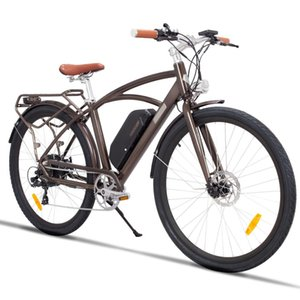 US Stock - Comet Brown Moped Electric Bike Two Seats 48V 500W Motor Up To 100km Range LED Front and Rear City Sports Ebike