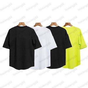 Красота прилив мужские дизайнер футболки большая задняя печать круглые шеи с коротким рукавом футболка мужские и женщины 4 цвета