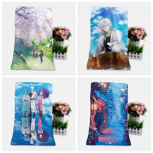 Towel IVYYE Gintama Style Fashion Customized Anime Bath Towels Handkerchief Soft Face Cartoon Washcloth Unisex