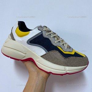 child 2021 Designer Rhyton Sneakers Beige Men Trainers Vintage Luxury Chaussures Ladies Shoes size 35-46