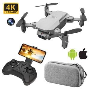 Mini RC Drohne 4k UAV-Quadkopter mit Kamera Wifi FPV-Luftaufnahme Hubschrauber Faltbare LED-Lichtqualität RC Global Toy 210325