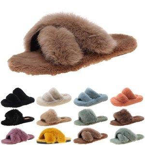 luxury women shoes slides slippers womens sandals black grey slide slipper flat flip flops size 35-40 color75
