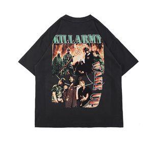 2021 Spring Summer Etats-Unis Mode Music Band Print Tee Hommes T-shirt Femmes Streetwear Streetwear Streetwear Tshirt