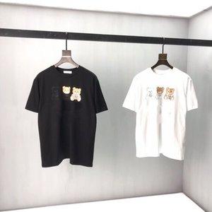 Индивидуальные ткани хлопчатобумажные высококачественные футболки круглые шеи с короткими рукавами.