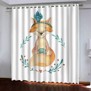2021 3D Curtain animal HD Window Curtains Drapes For Living Room Bedroom KTV Home Decor