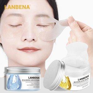 Lanbena hialurônico ácido máscara de olho 50 pçs / caixa hidratante retinol remendos anti-envelhecimento / inchaço círculo escuro olhos gel tslm1