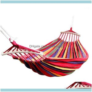 Outdoor Leisure Sports Outdoorsoutdoor Games & Activities Double Hammock 450 Lbs Portable Travel Camping Hanging Swing Lazy Chair Canvas Ham