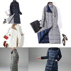 Luzuzi Double Side Vrouwen Winter Donsjack 2020 Fashion Lange Double-Breasted Jas Vrouwelijke Warm Witte Eend down Parka 4 563O