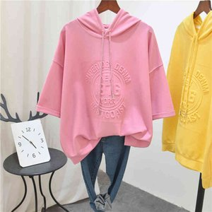Women's short sleeve breathable cotton T-shirt, 3D fine printing letters, with 2021 Western Hoodie