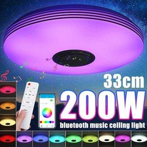 Plafonniers 200W RVB APP Applique Bluetooth Music Lampes Lampes Smart Lampe avec télécommande Décoration d'éclairage domestique
