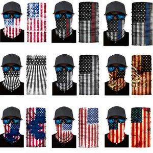 Половина лица серии США флаги оголовье осенью и зимняя партия маски защиты волшебный шарф теплые спортивные езда эластичные Хэллоуин маска ZC438-F
