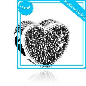 Hanzhishi Fit Original Europe Charms Bracelet 925 Sterling Silver Heart Work Open Charm Karmen Bijoux Faire des accessoires DIY