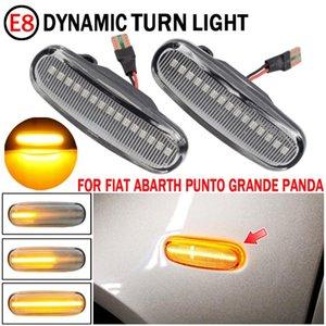 2pcs LED Turn Signal Signal Dynamique Leader de la lampe de voyant pour Abarth Punto Grande Panda 199 Doblo Fiorino 3 Lumières d'urgence