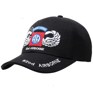Hüte Outdoor Taktik D82 Airborne Division Casual Baseball Training Große Cornice Cap Atmungsaktiv