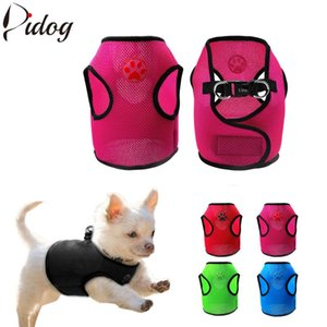 Dog Collars & Leashes Mesh Harness Puppy Vest Soft For Small Medium Dogs Chihuahua Yorkies Hanress Pink Blue Red Green Black S M
