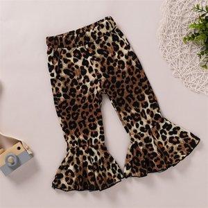 Mädchen Denim Jeans Neue Design Baby Mädchen Hosen Leopard Kids Designer Bell Belege Jeans Fall Kleidung Boutique Jean Kleinkind Baby Hose 48 Z2