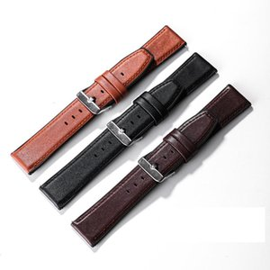 Watch Bands Genuine Leather Watchbands For Huawei GT 2 GT2 20mm 22mm Stainless Steel Buckle Replacement Strap Accessories