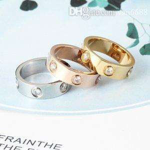 Designer Diamond Love rings women men Screw ring Party Wedding Couple Gift Love Fashion Luxury Carti with box vcfggh 299y
