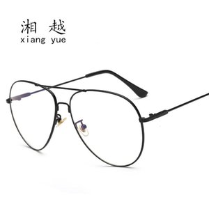 High quality 3026 stainls steel memory flat lens large frame glass metal optical men's riding
