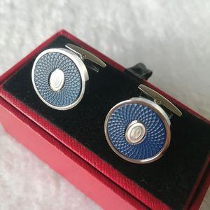 Ca_r3 Luxury Jewelry Men's Cuff Links Brand Logo High Quality Copper Cufflinks Wedding Gift With Box