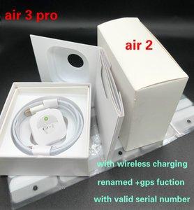 Fedex UPS Free Air 3 H1 Chip Rename GPS earphones cases Wireless Charging Bluetooth Headphones Pods 2 Pro AP2 AP3 Earbuds 2nd generation