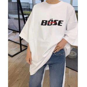 2020 New Style Red Stickereien Vetements T-shirt Männer Frauen 1: 1 Beste Qualität VTM Top T-Stück Sommer Casual lose Vetements Tshirt C0325