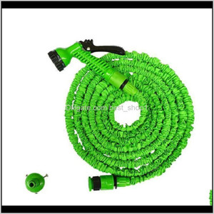 3X Expandable Magic Hose With 7In1 Spray Gun Nozzle 25Ft 50Ft 75Ft 100Ft Irrigation System Garden Hose Water Gun Pipe Qtxbm 3Om9F