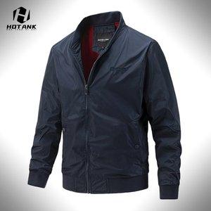Men's Jackets Simple Men's Windbreaker Casual Slim Bomber Jacket Men Solid Zipper Streetwear Autumn Fashion Male Pilot Baseball Coats