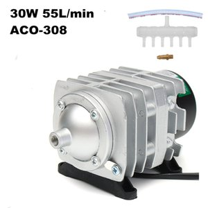 45W 70L min Pumps Electromagnetic Air Compressor Fish Tank Oxygen Hydroponics 6 Way Aerator Pump