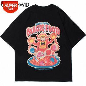 Camisetas Streetwear Harajuku Bandana Paisley Padrão Impressão Tshirts Hip Hop Moda Casual Algodão Manga Curta Tees Tops # IG6C