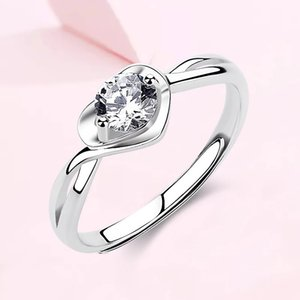 Ring Female Sterling Silver 925 Simple Heart Fashion Personality Niche Design Ins Net Red Live Jewelry