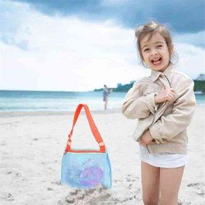 Beach Kids Bag Zipper Net Children's Shell Collection Toys Swimming Accessories Beach School Lunch Bags Backpacks Children 3 Colors G53895I