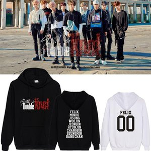 Men's Hoodies & Sweatshirts Kpop Stray Kids Double Knot Logo Bangchan Felix Hyunjin Jeongin All Menber Name Sweatshirt