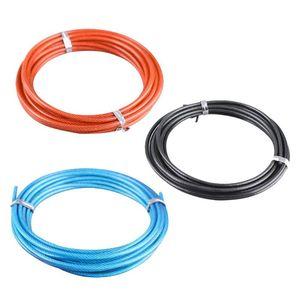 Cuerdas de salto Color sólido resistente al desgaste 3M Cable reemplazable de alambre de acero para la velocidad de salto de la velocidad