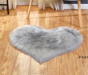 Plush Area Rugs Lovely Peach Heart Carpet Home Textile Multifunctional Living Room Heart-shaped Anti Slip Floor Mat FWA9237