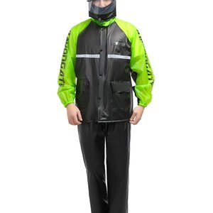 Adult Cycling Mens Raincoat Rain Pants Waterproof Motorcycle Raincoat Plastic Imperneable Yagmurluk Erkek Rain Gear BE50rc 210320