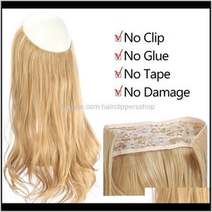 Fashion Wave Halo Extension Invisible Bai Arag Real Natural Hidden Secret Silk Crown Size Notes 4M8F Extensions E4Nzh
