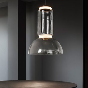 Nórdico Europa LED CRISTAL Lámpara colgante HangLamp Colgante Luminaria Luminaria Anillo Industrial Sala de estar