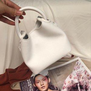 Waist Bags Korean Women's Handbags PU Texture Bucket Bag Candy Color Shoulder Soft Face Solid Fashion Lady