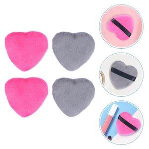 4pcs Heart Shape Makeup Puffs Loose Powder Puff Beauty Sponges Blender Sponges, Applicators & Cotton