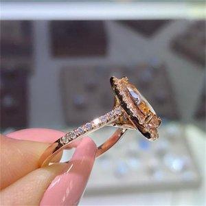 2020 роскошные женские обручальные кольца мода драгоценные камни обручальные кольца для женщин ювелирные изделия, смоделированные алмазные кольца для свадьбы 124 R2
